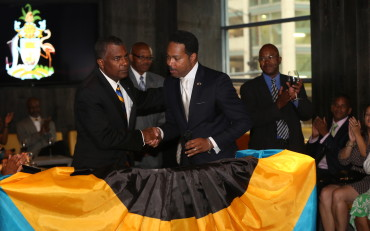 Hon. Frederick Mitchell and Consul Fountain
