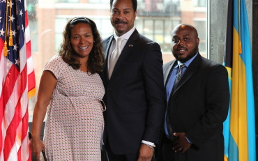 Mr. and Mrs. Dante and Alicia Sawyer and Consul Fountain