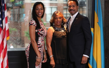 Mrs. Tanya Fountain, Mrs. Rhonda Mathews and Consul Fountain