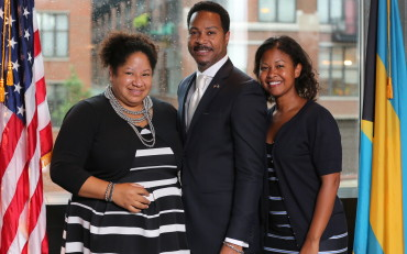 Nicole Sims, Tanya Triche and Consul Fountain