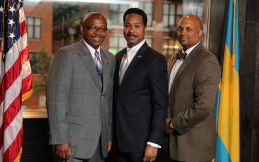 Rep. Will Davis, Clayton Harris and Consul Fountain